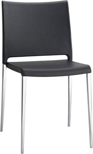 Mya 700 -  kunststof stoel met aluminium poten