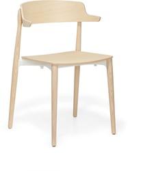 Nemea 2825 - houten school/ kantine stoel met armleggers, scandinavische stijl