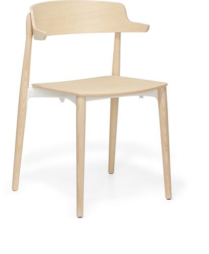 Nemea 2825 - houten school / kantine stoel met armleggers, scandinavische stijl. FSC 100% gecertificeerd