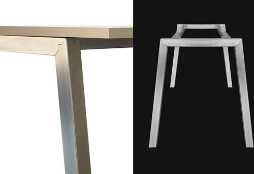 Tafelframe SC751 - Vierpoot tafelframe met schuine poten-2