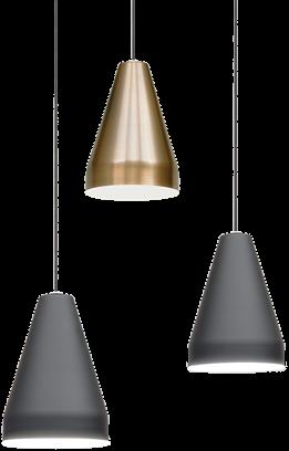 Tamara L005S/A hanglamp - kleine hanglamp met mat afgewerkte kunststof kap