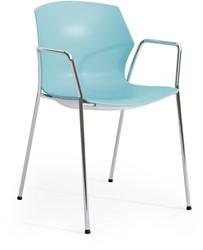 No-Frill arms - kunststof kantine stoel met armleggers
