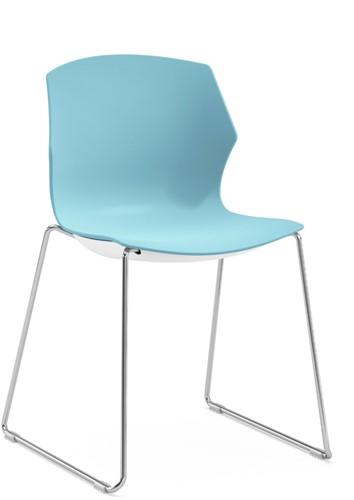 No-Frill SL - kunststof kantine stoel met slede frame