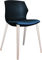 No-Frill Wood - kunststof stoel met stevig houten frame-3