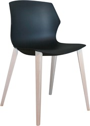 No-Frill Wood - kunststof stoel met stevig houten frame