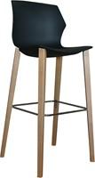 No-Frill Wood kruk- kunststof kruk met stevig houten frame