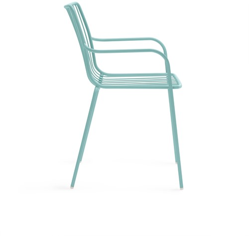 Nolita 3656 - stalen terrasstoel, kantine stoel met armleggers, hoge rug-2