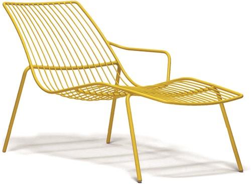Nolita 3654 - stalen terrasstoel, lounge stoel, chaise loungue
