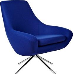 Noomi Lounge - gestoffeerde lounge stoel / fauteuil op kruisvoet
