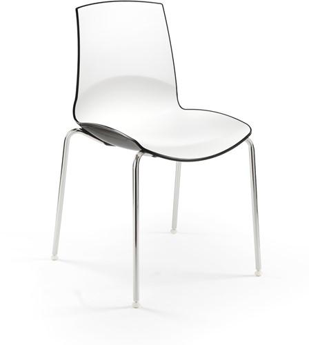 Now - kunststof duo kleur school- / kantine stoel