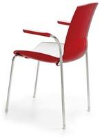 Now Arms - kunststof duo kleur school- / kantine stoel met armleggers-3