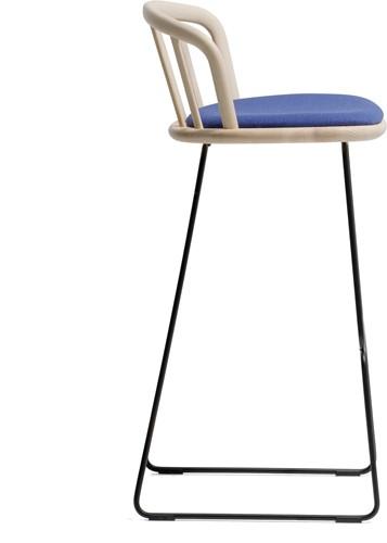 Nym 2859 -  kruk met houten zit en rug, sledeframe - FSC 100% gecertificeerd-3