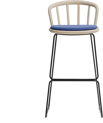 Nym 2859 -  kruk met houten zit en rug, sledeframe - FSC 100% gecertificeerd-2