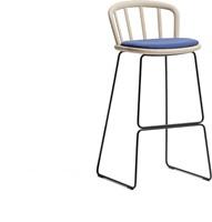 Nym 2859 -  kruk met houten zit en rug, sledeframe - FSC 100% gecertificeerd