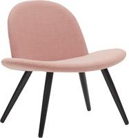 Orlando wood - Volledige gestoffeerde lounge stoel met houten poten