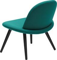 Orlando wood - Volledige gestoffeerde lounge stoel met houten poten-3