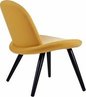 Orlando wood - Volledige gestoffeerde lounge stoel met houten poten-2