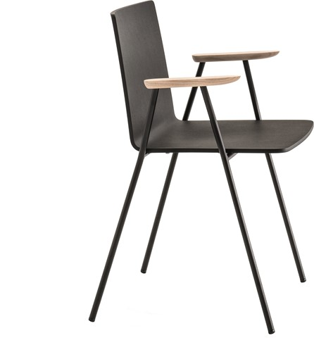 Osaka Metal 5712 - houten stoel met armleggers. FSC 100% gecertificeerd