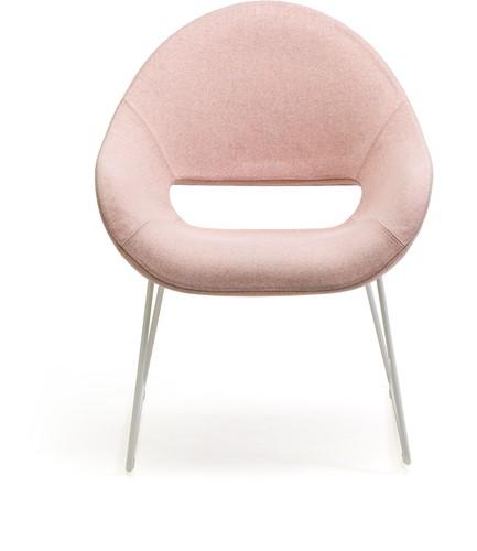 Palm LO 624 -  fauteuil met uitstekend zitcomfort op een sledeframe-2