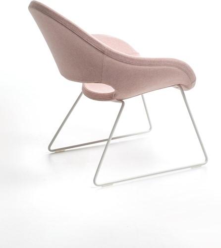 Palm LO 624 -  fauteuil met uitstekend zitcomfort op een sledeframe-3