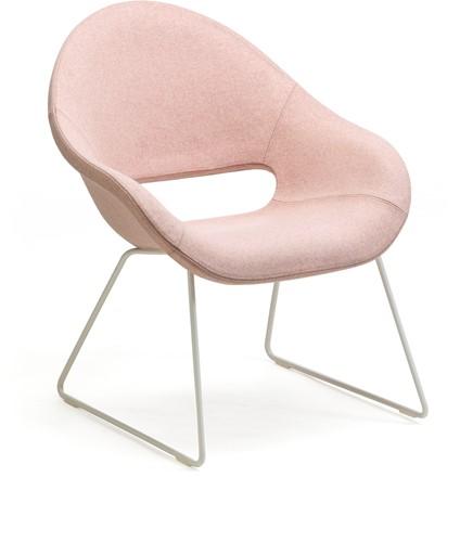 Palm LO 624 -  fauteuil met uitstekend zitcomfort op een sledeframe