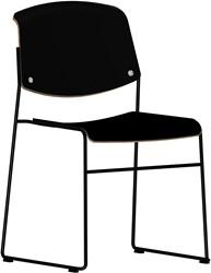 Pause MO8640  Runner - Magnus Olesen sledeframe stoel, zitting en rug kern hout, afwerking hpl, linoleum of fineer