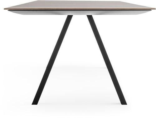 Arki Tafel top wood - design / vergadertafel met een dun volkern houtlook decor blad en schuine poten-2