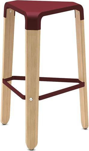Picapau H65 - houten design kruk met kunststof zitting
