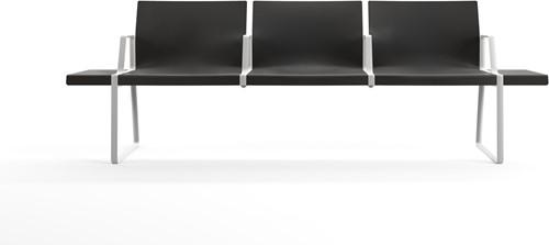 Plural Arms - wachtbank met meerdere zitplaatsen en armleggers