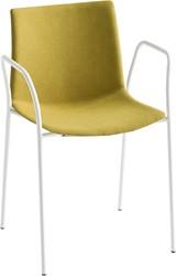 Point Arms Front - gestoffeerde stapelbare stoel met armleggers
