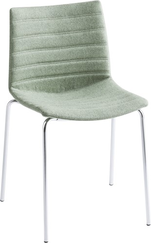 Point Full - comfortabele gestoffeerde stoel - CHROOM (CR) - Kvadrat - Umami - 111