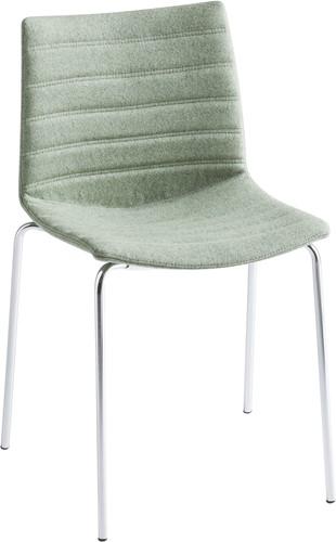 Point Full - comfortabele gestoffeerde stoel - WIT (BI) - Kvadrat - Remix - 123