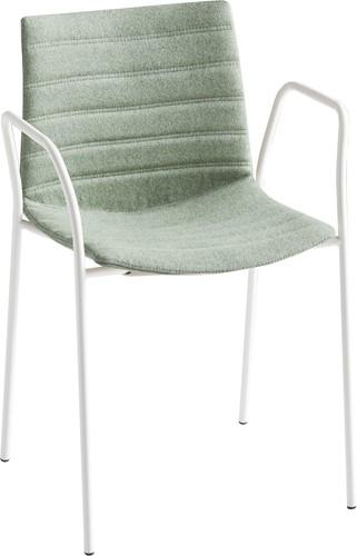 Point Arms Full - gestoffeerde stoel met armleggers - WIT (BI) - Kvadrat - Steelcut 2 - 365