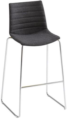 Point Kruk Full - gestoffeerde kruk  - CHROOM (CR) - Kvadrat - Steelcut 2 - 190