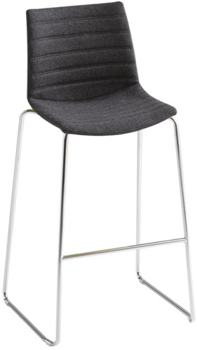 Point Kruk Full - gestoffeerde kruk  - WIT (BI) - Kvadrat - Steelcut 2 - 190