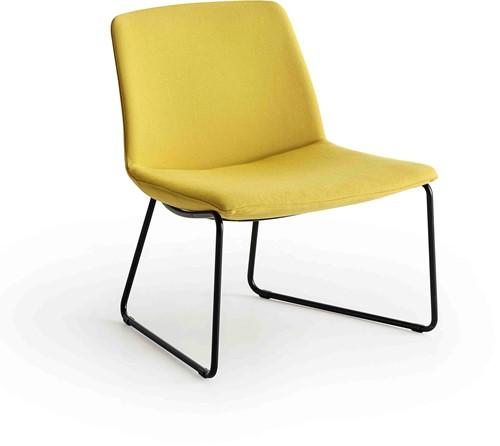 Point Lounge SL - sledeframe, lounge stoel, volledig gestoffeerd