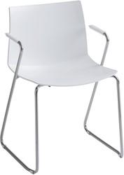 Point maxi SL armstoel - comfortabele brede kunststof stapelbare stoel met sledeframe en armleggers