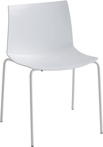 Point Maxi - comfortabele stapelbare kunststof stoel met een brede zitschaal, verkrijgbaar in sprekende kunststof kleuren
