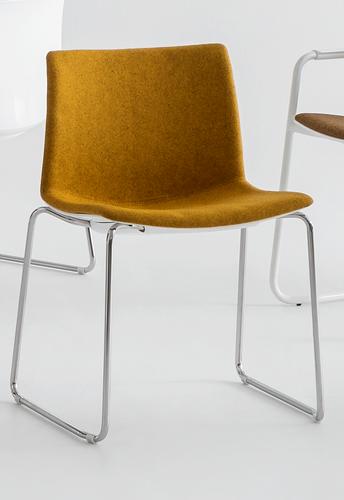Point Maxi SL Front - comfortabele brede, aan de voorzijde gestoffeerde stoel met sledeframe-2