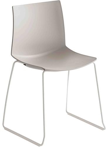 Point Slede - kunststof stoel met sledeframe - CHROOM (CR) - ROOD (RO) 06