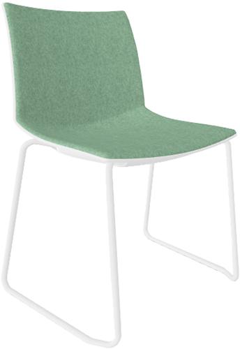 Point Maxi SL Front - comfortabele brede, aan de voorzijde gestoffeerde stoel met sledeframe