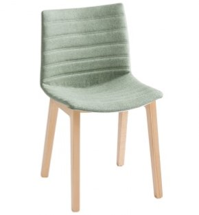 Point Wood Full - gestoffeerde stoel met houten poten - BEUKEN (FA) - Camira - Blazer - Kingsmead CUZ67