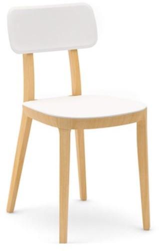 Porta Venezia - houten keuken / school stoel met kunststof zitting en rug