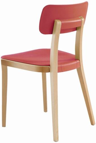 Porta Venezia - houten keuken / school stoel met kunststof zitting en rug-2