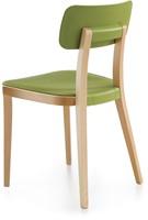 Porta Venezia - houten keuken / school stoel met kunststof zitting en rug-3