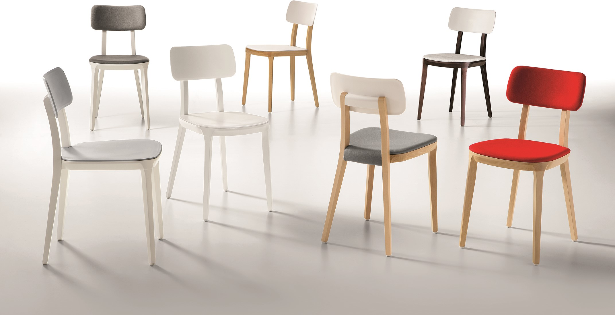 Spiksplinternieuw Porta Venezia UPH - houten keuken/ school stoel met gestoffeerde QJ-64