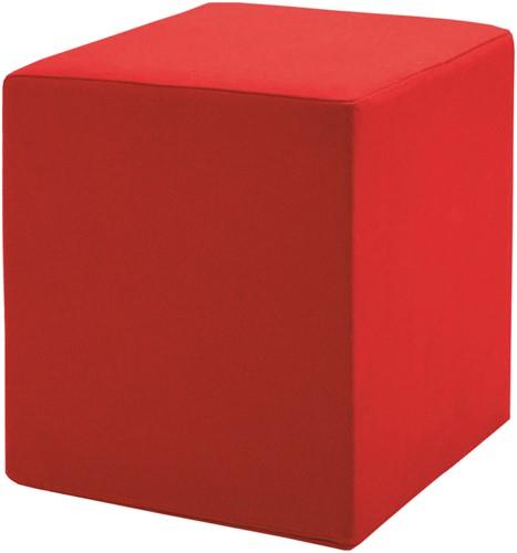 Poef Pouf - gestoffeerde vierkante poef