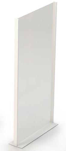 Covid preventiewand glas 100x200 cm - Staande wand van glas