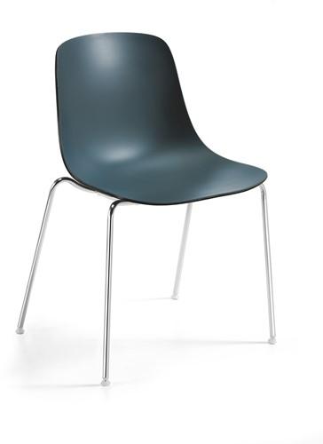 Pure Loop Binuance - kunststof stoel met 2-kleurige zitschaal