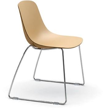 Pure Loop Binuance SL - 2 kleurige kunststof stoel met sledeframe
